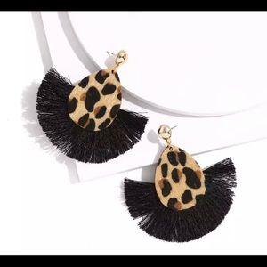 Bohemian Leopard Drop Cheetah earring